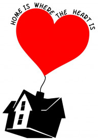 Sticker si canvas - Home is Where the Heart Is