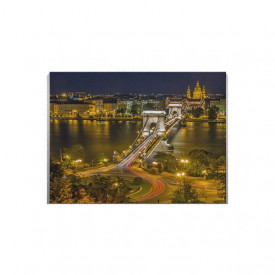Tablou Canvas Bridge at night