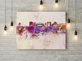 Tablou Canvas Cladiri Bucuresti efect pictura