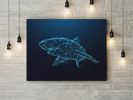 Tablou Canvas Cyber Shark