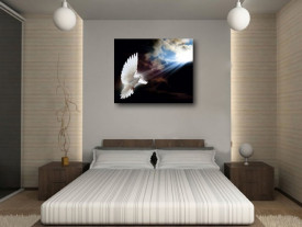 Tablou canvas efect painting - porumbel