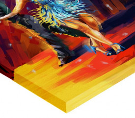 Tablou canvas efect pictura - Dans salsa