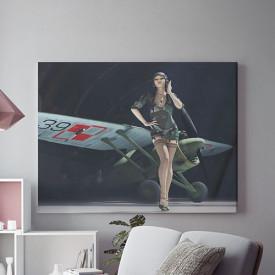 Tablou Canvas Sexy pilot