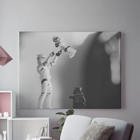 Tablou Canvas Stormtroopers and Darth Vader