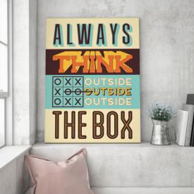 Tablou motivational - Think outside the box