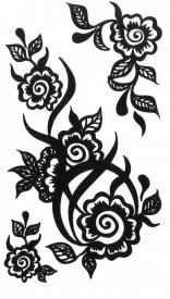 Tatuaj temporar -flori pictate- 10x17cm