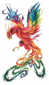 Tatuaj temporar -vultur colorat- 10x17cm