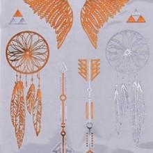 Tatuaj temporar - modele indiene metalice - 20x10cm
