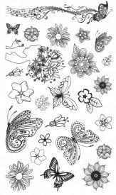 Tatuaj temporar -fluture muzical- 10x17cm