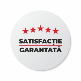 Etichete personalizate SATISFACTIE GARANTATA, 100 buc, PVC, rezistente la apa