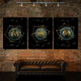 Set tablouri canvas - Alien geometry
