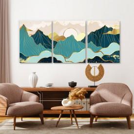 Set tablouri canvas - Golden panorama