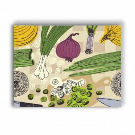 TABLOU BUCATARIE - SKETCY GREEN FOOD