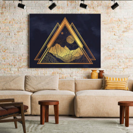 Tablou Canvas Golden symbols