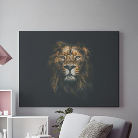 Tablou Canvas Sober lion