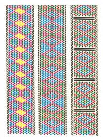 Tatuaj temporar -bratari multicolore- 20x15cm