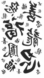 Tatuaj temporar caractere chinezesti 17x10cm