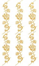 Tatuaj temporar -flori aurii- 10x17cm