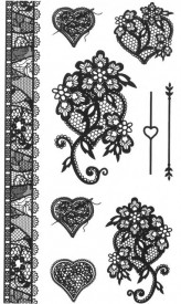 Tatuaj temporar -inimioare- 10x17cm