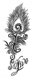 Tatuaj temporar -Live- 6x15cm