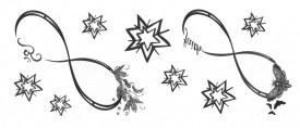 Tatuaj temporar -infinit- 7x15cm