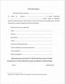 Formular pentru adeverința de la angajator - set 10buc