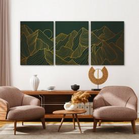 Set tablouri canvas - Simple golden landscape