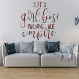 Sticker Just a girl boss