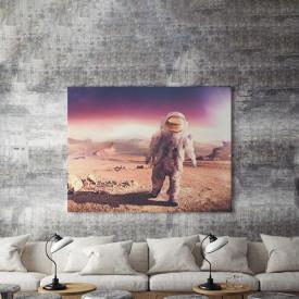 Tablou Canvas Astronaut pe Marte