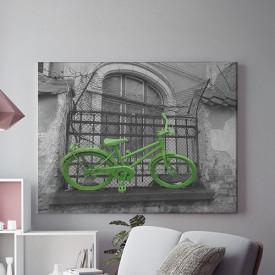Tablou Canvas Bicicleta Verde