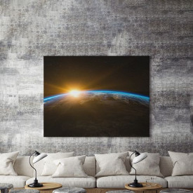 Tablou Canvas Blue Line Earth