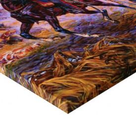 Tablou canvas efect painting - Lupta pe camp