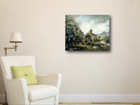 Tablou canvas efect painting - Razboi 03