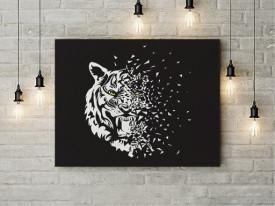 Tablou Canvas Glass Tiger- 01