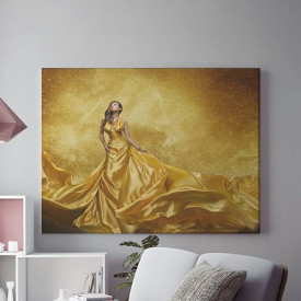 Tablou Canvas Golden Lady