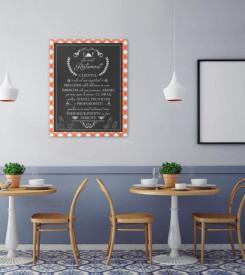 Tablou canvas - In Acest Restaurant - Fata de masa