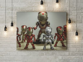 Tablou Canvas Iron Men Army