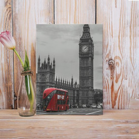 Tablou Canvas Red bus in London