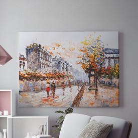 Tablou Canvas Siluete pe strada