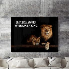 Tablou motivational - Brave like a warrior
