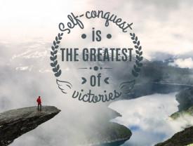 Tablou motivational - Self conquest
