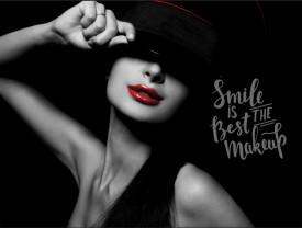 Tablou motivational - Smile is the best make-up