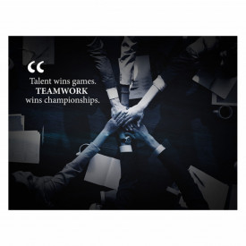 Tablou motivational - Teamwork wins championships