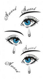 Tatuaj temporar blue eyes 6x15cm