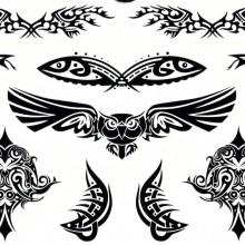Tatuaj temporar -bufnita-peste-tribale- 15x11cm