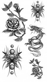 Tatuaj temporar -Dragons- 17x10cm