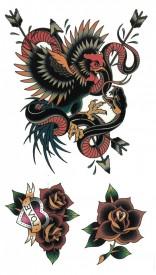 Tatuaj temporar -sarpe- 10x17cm
