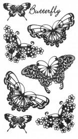 Tatuaj temporar -fluturi desenati- 10x17cm
