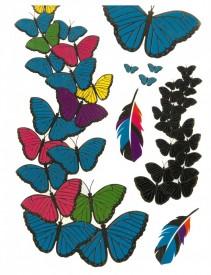 Tatuaj temporar -fluturi 3D- 20x15cm