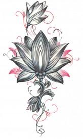 Tatuaj temporar -Floare Lotus- 17x10cm